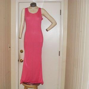 NWOT Pink Maxi Dress Tank Top  Sz Sm